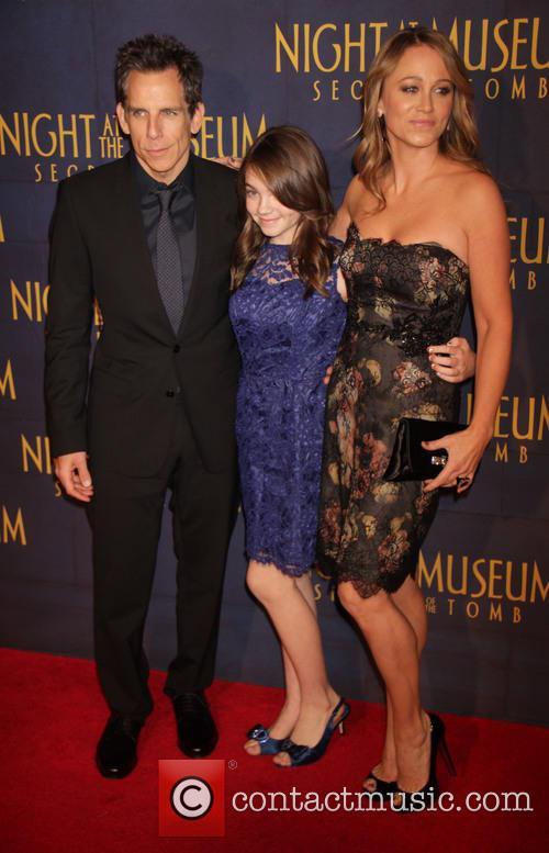 Ben Stiller, Christine Taylor and Elia Stiller 8