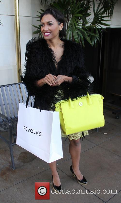 Kat Graham goes shopping at The Grove