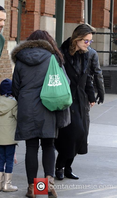 Ozzy Osbourne leaving his hotel