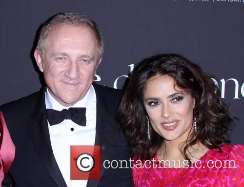 Francois-henri Pinault and Salma Hayek 1