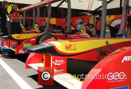 Lucas Di Grassi and Daniel Abt Garage 4