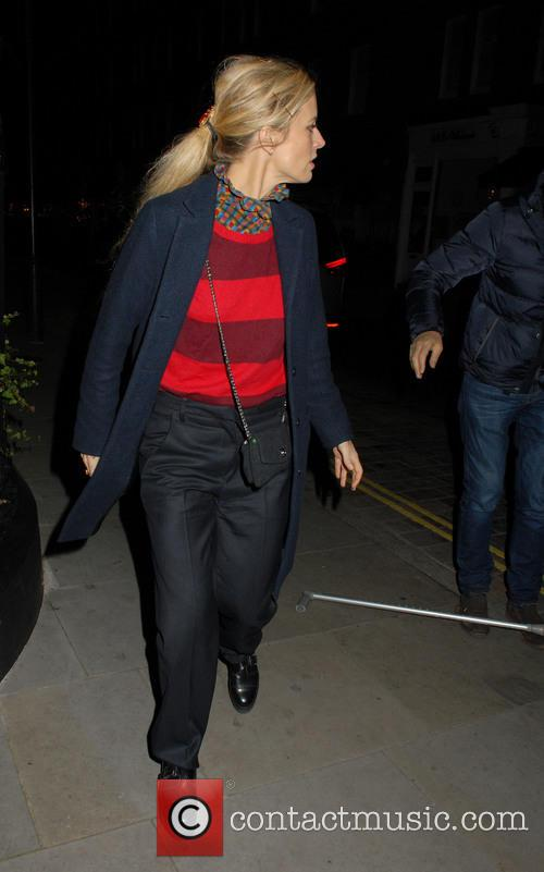 Laura Bailey limps in at  Chiltern Firehouse...
