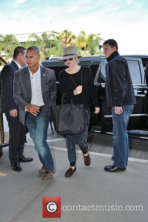 Jennifer Lawrence at Los Angeles International Airport