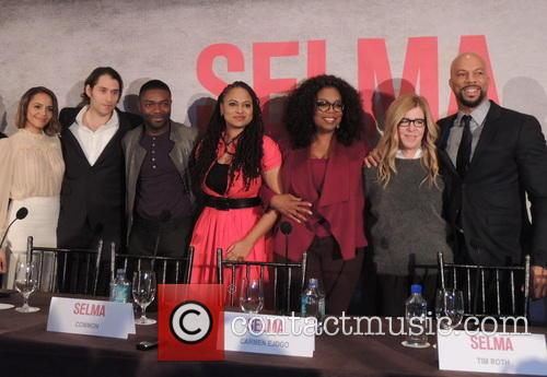 Oprah Winfrey, Common, Carmen Ejogo, Jeremy Kleiner, Dede Gardner and David Oyelowo 2