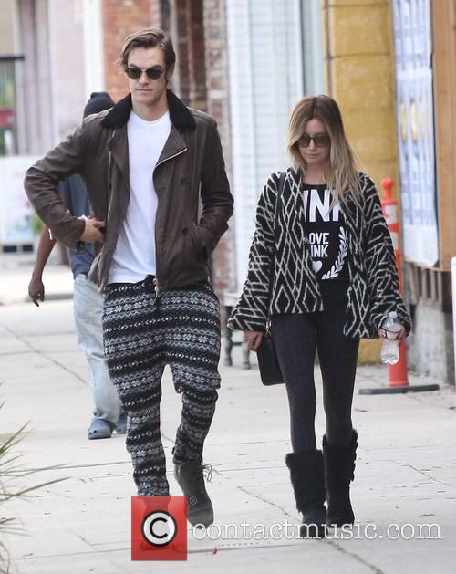 Ashley Tisdale and Christopher French out in Studio...