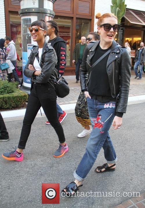 Icona Pop goes shopping at The Grove in...