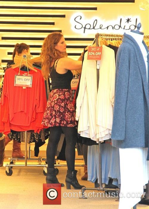 Rebecca Mader goes shopping for a bargain in...