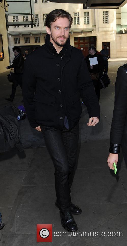 Dan Stevens arriving at BBC Radio