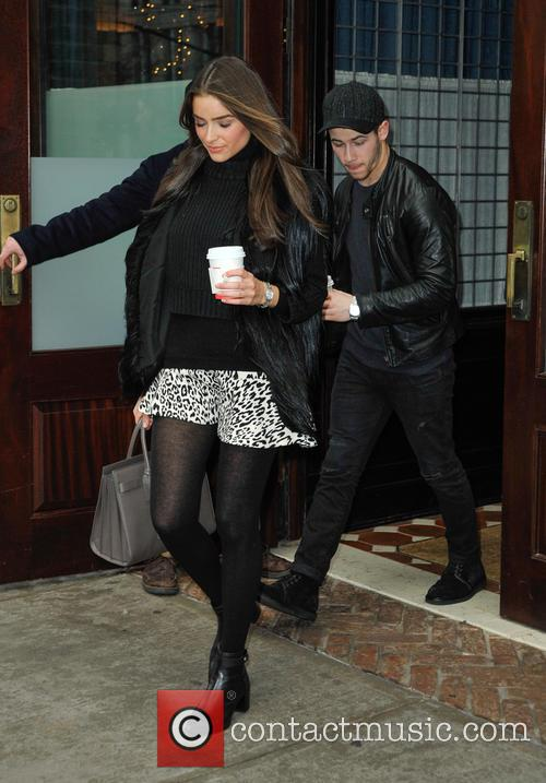 Nick Jonas and Olivia Culpo in Tribeca