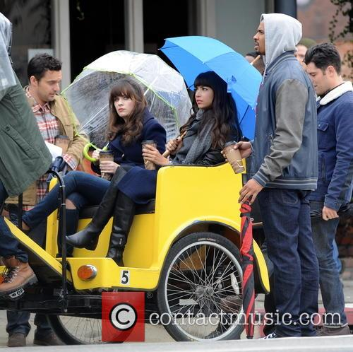 Zooey Deschanel, Hannah Simone, Jake Johnson and Damon Wayans Jr