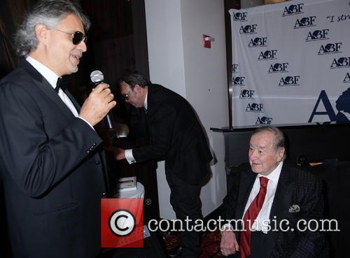 Sirio Maccioni and Andrea Bocelli 4