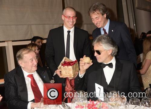 Sirio Maccioni, Vittorio Giordano, Marco Bocelli and Andrea Bocelli 2
