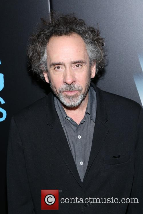 Tim Burton at 'Big Eyes' premiere