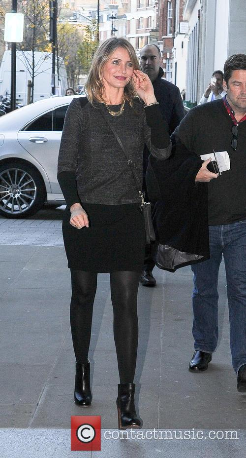 Cameron Diaz arriving at BBC Radio 1