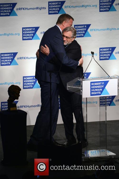 Bill De Blasio and Robert De Niro 6