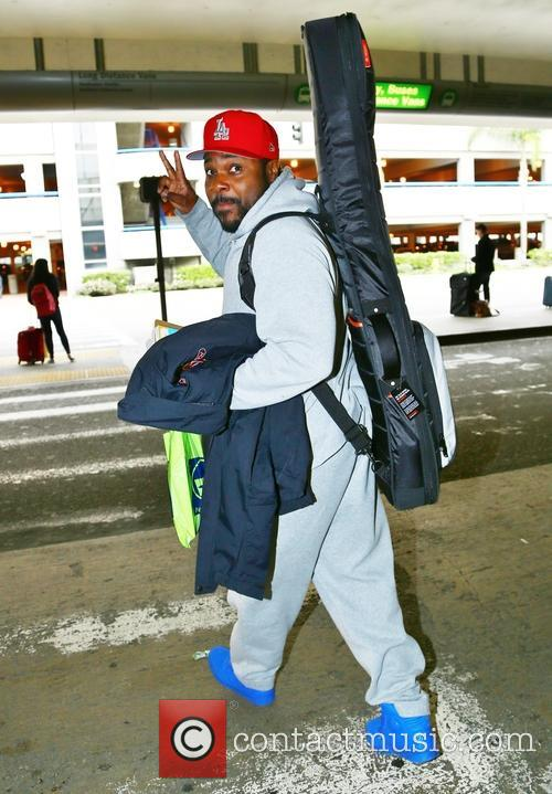 Malcolm-Jamal Warner arrives at Los Angeles International Airport