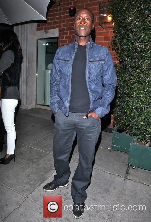 Don Cheadle outside Mr Chow's restaurant