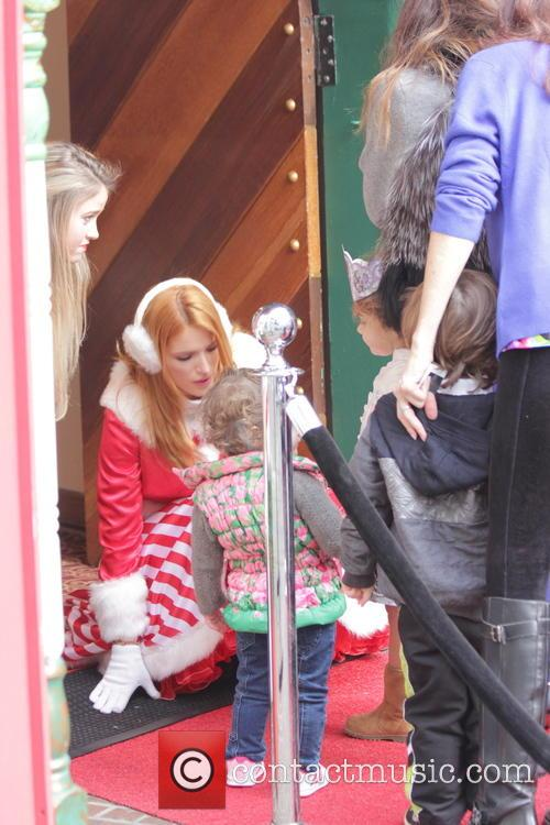 Bella Thorne films at Santa Claus's house at...