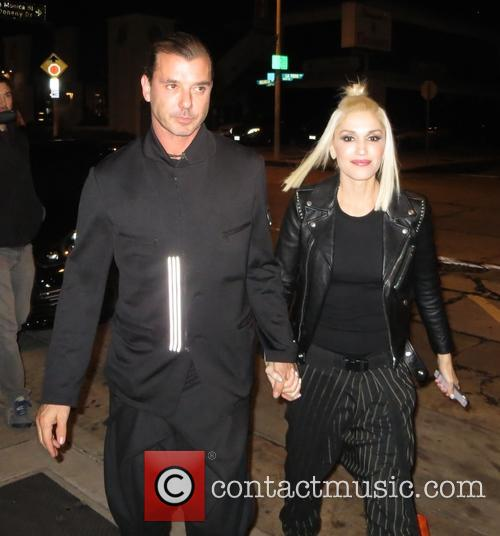 Gwen stefani and Gavin Rossdale leaving Craigs