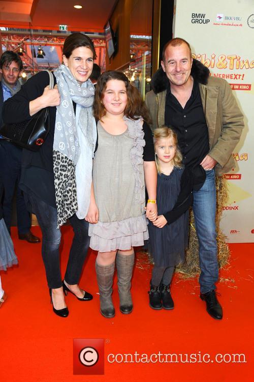 Marie-jeanette Ferch, Niece Magdalena, Daughter Ava and Heino Ferch 1