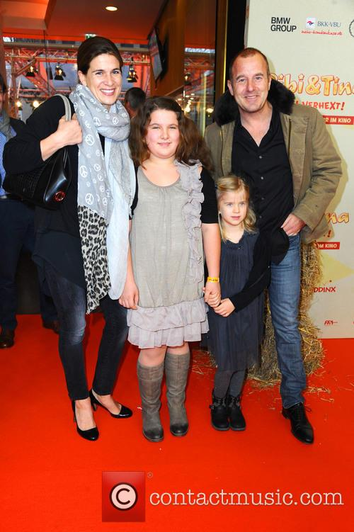 Marie-jeanette Ferch, Niece Magdalena, Daughter Ava and Heino Ferch 2