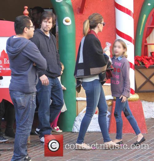 Mark Wahlberg and his family visit Santa at...