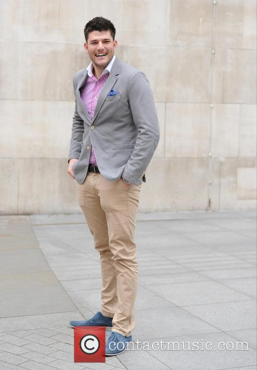 Mark Wright seen at BBC Studios