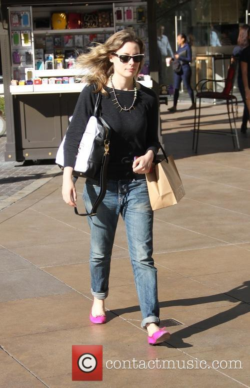 Gillian Jacobs shopping at The Grove in Hollywood