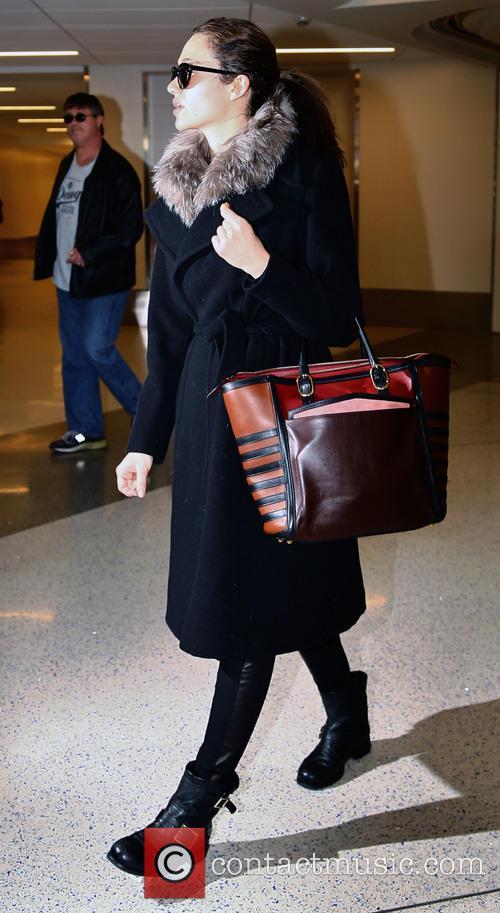 Emmy Rosssum at Los Angeles International Airport
