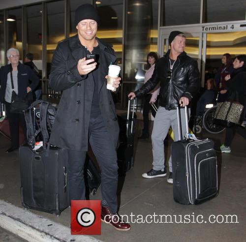The Miz arrives at Los Angeles International Airport