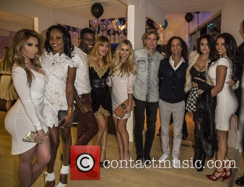 Nikki Giavasis, Raquel Rischard, Kenny G, Adrienne Maloof and Tiffany Stanley