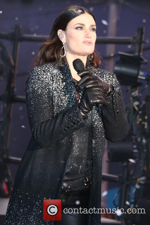 Idina Menzel at Times Square on New Years Eve