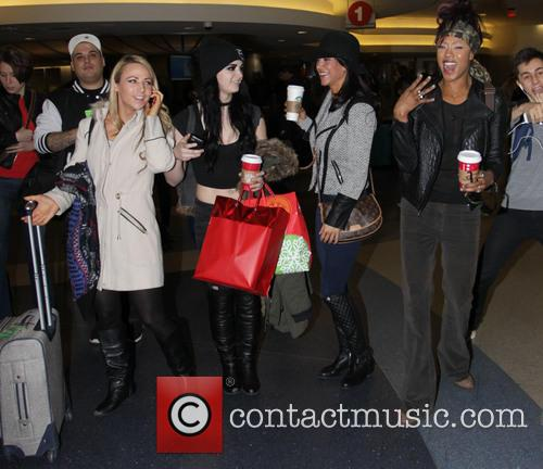 WWE Divas arrive at Los Angeles International Airport