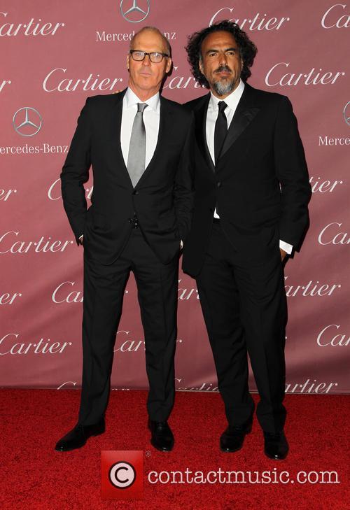 Michael Keaton and Alejandro Gonzalez Inarritu 5