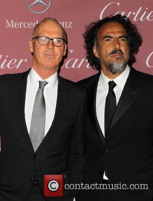 Michael Keaton and Alejandro Gonzalez Inarritu 6