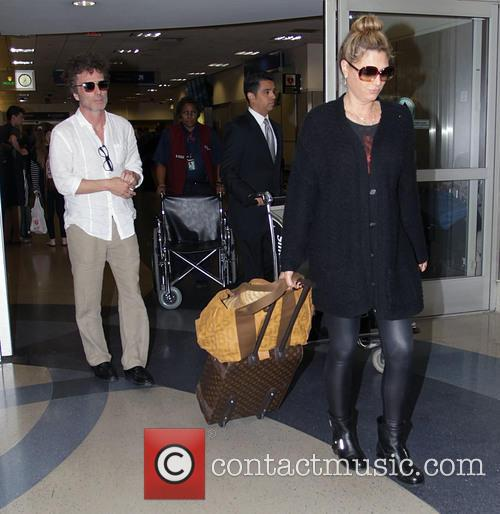 Daisy Fuentes departs from Los Angeles International Airport