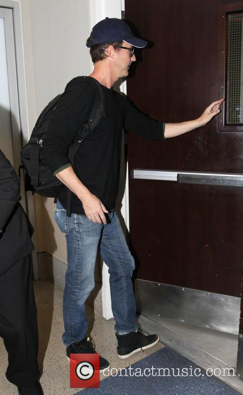 Edward Norton departs from Los Angeles International Airport
