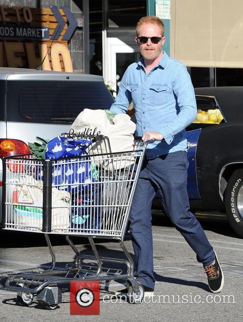 Jesse Tyler Ferguson goes shopping at Whole Foods...