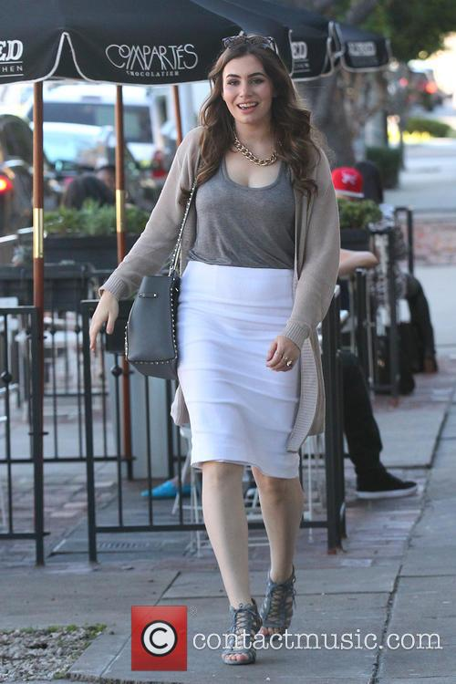 Sophie Simmons seen leaving Alfred Cafe at Melrose...