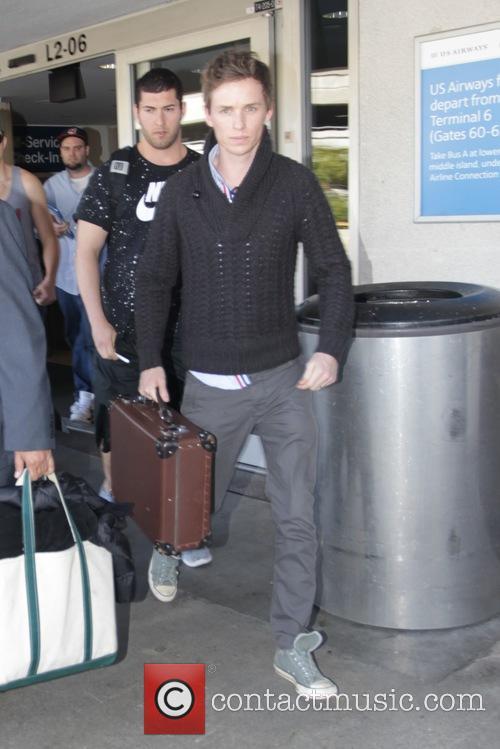 Eddie Redmayne at Los Angeles International Airport (LAX)