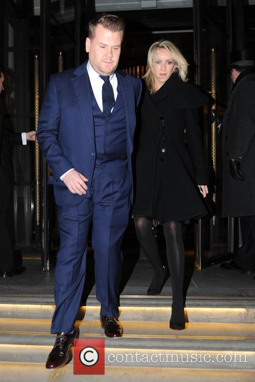 James Corden leaving his London Hotel
