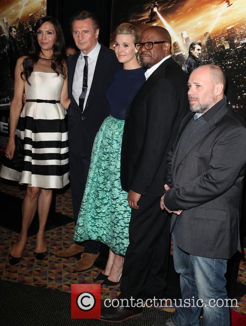 Famke Janssen, Liam Neeson, Maggie Grace, Forest Whitaker, Director and Olivier Megaton 7