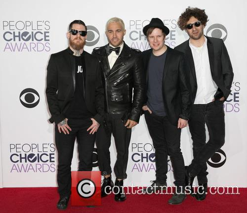 Andy Hurley, Peter Wentz, Patrick Stump, Joe Trohman and Fall Out Boy 1