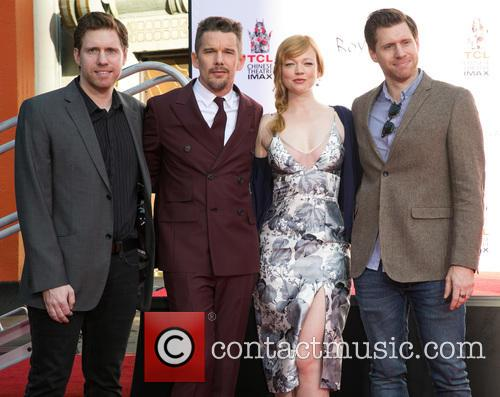 Peter Spierig, Ethan Hawke, Sarah Snook and Michael Spierig