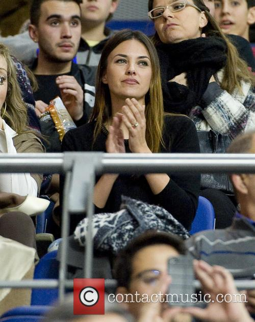 Helen Lindes attends a basketball game