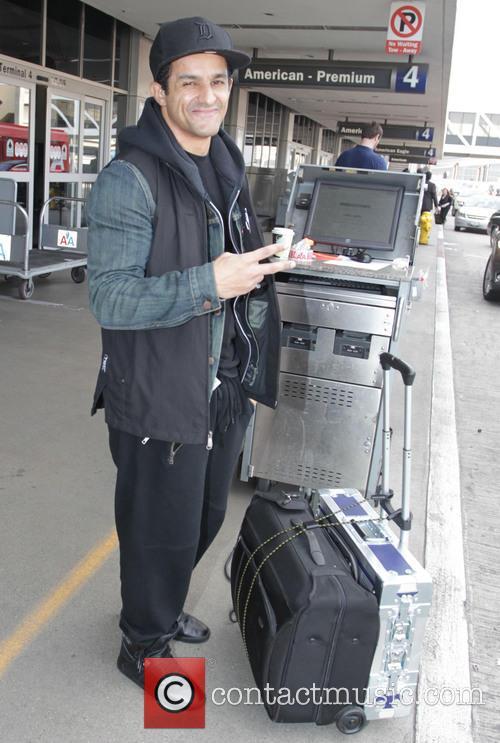 Huey Dunbar departs from Los Angeles International Airport