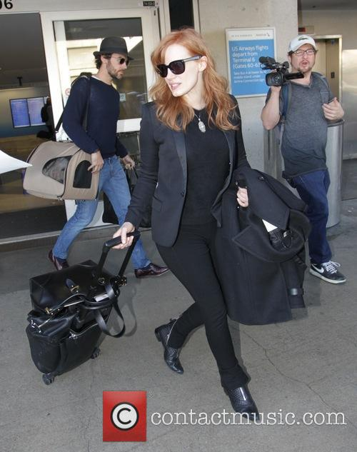 Jessica Chastain at Los Angeles International Airport (LAX)