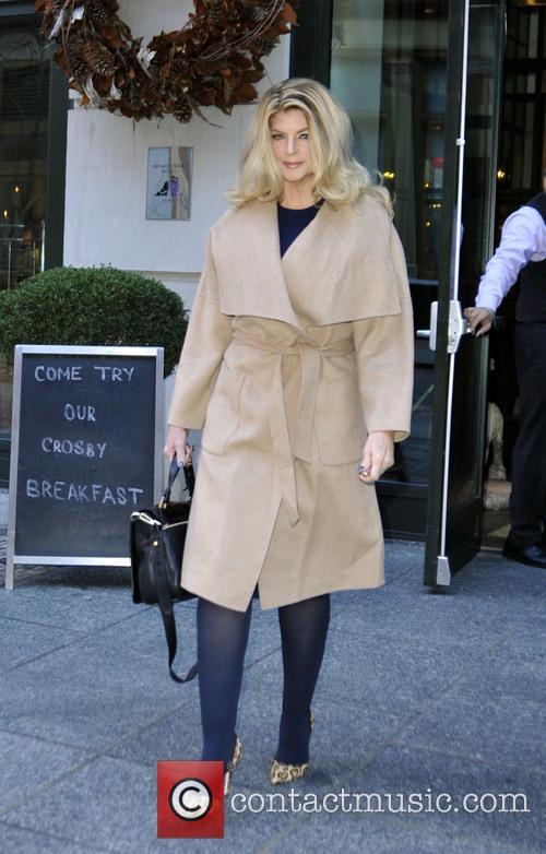 Kirstie Alley leaving her hotel