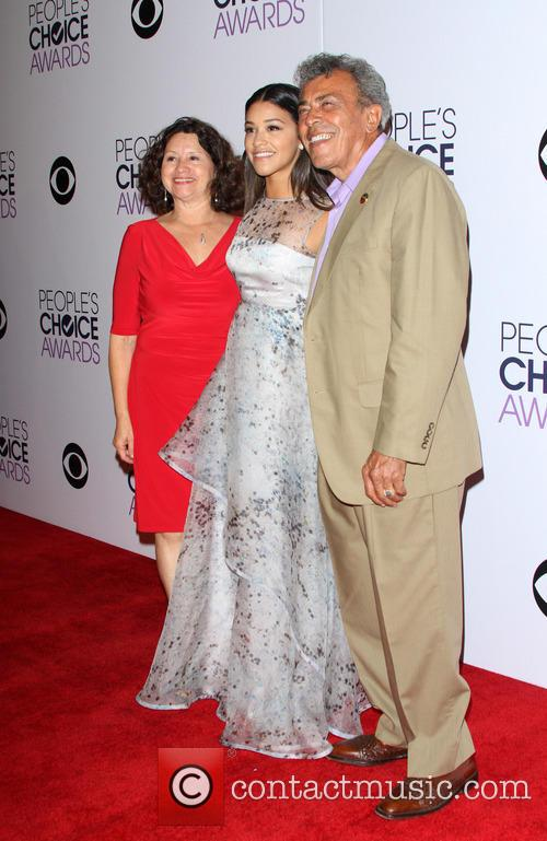 Photo of Gina Rodriguez & her Father  Genaro Rodriguez