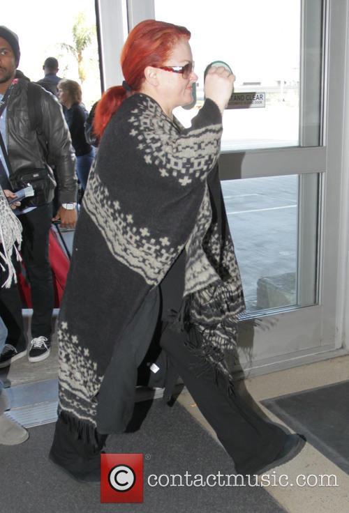 Wynonna Judd departs from Los Angeles International Airport